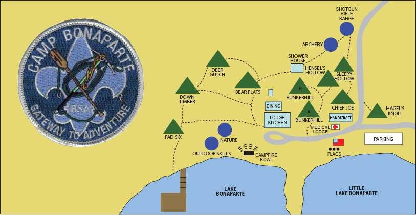 Camp Bonaparte Map